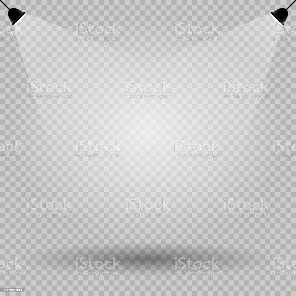 Lichter Schatten Leere Vorlage Transparent Stock Vektor Art und mehr ...