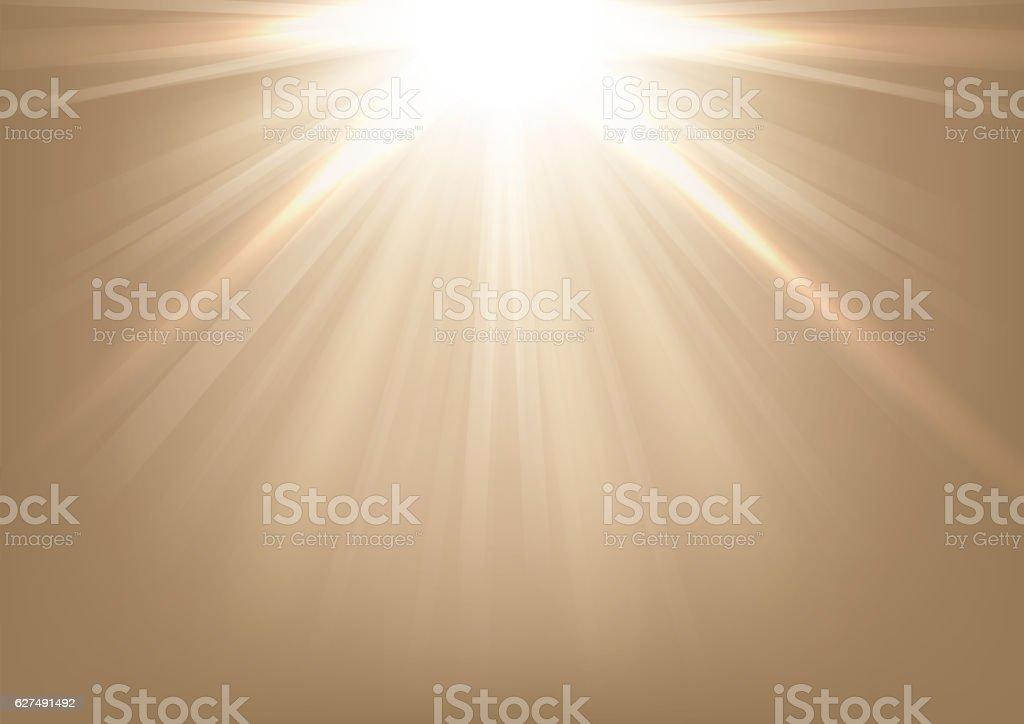 Lights shining on bright background vector art illustration