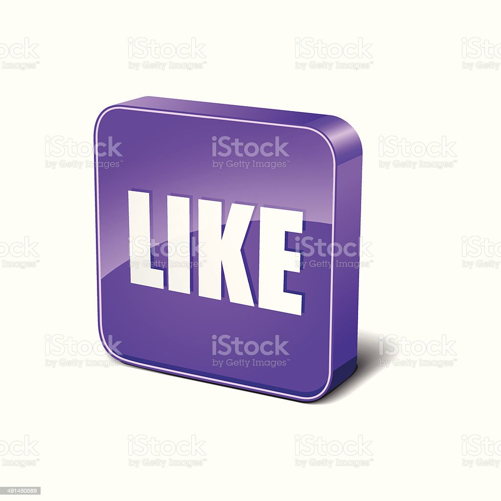 Like 3d Rounded Corner Purple Vector Icon Button royalty-free like 3d rounded corner purple vector icon button stock vector art & more images of alphabet