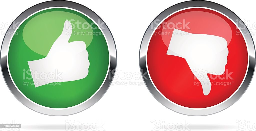 Like and Dislike buttons - illustration vector art illustration