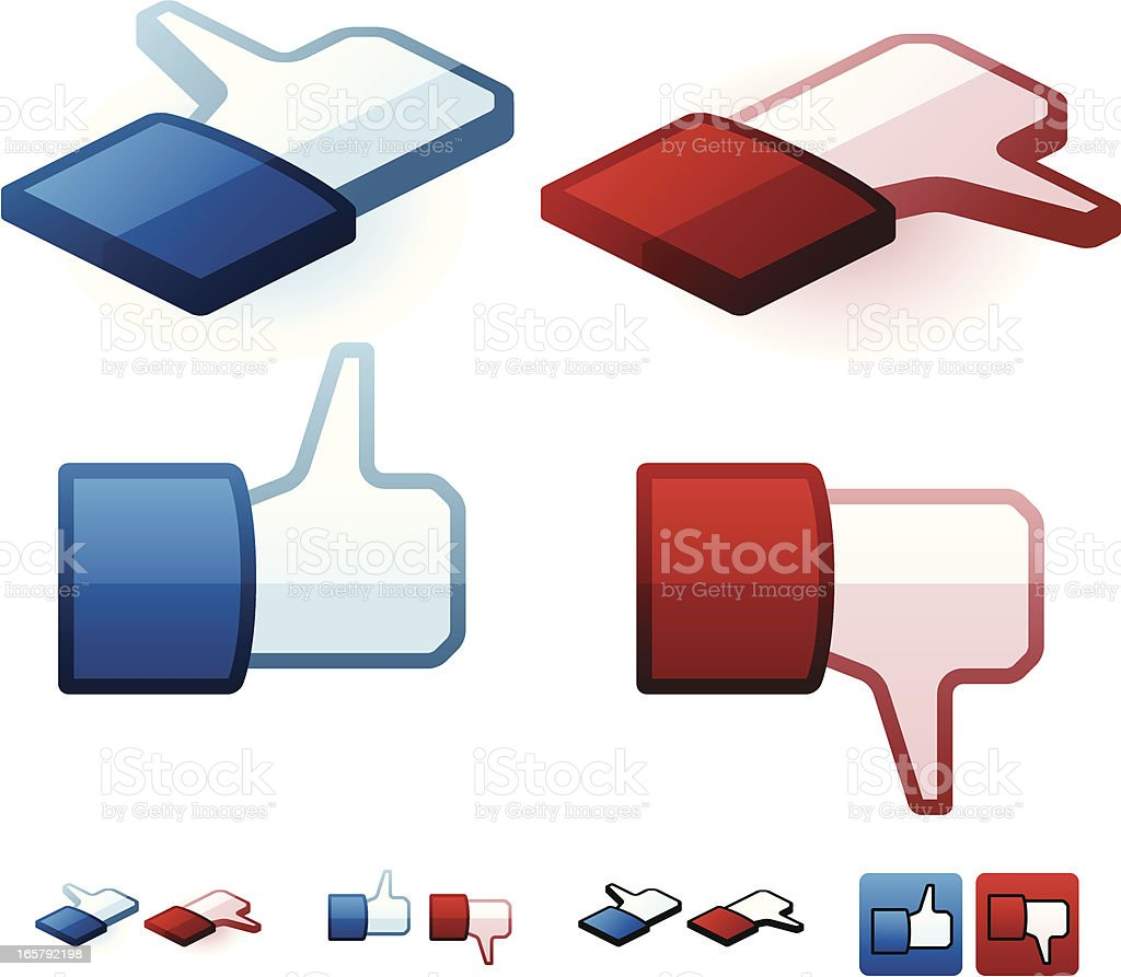 Like and Dislike Icons royalty-free stock vector art