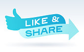 istock Like and Share Social Media Engagement Message 1153705551