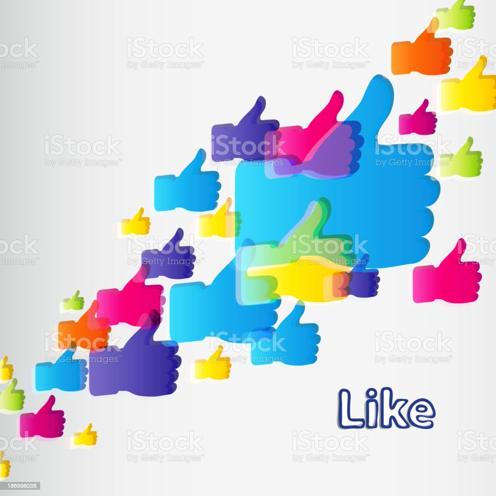 Like and Thumbs Up symbol. royalty-free stock vector art