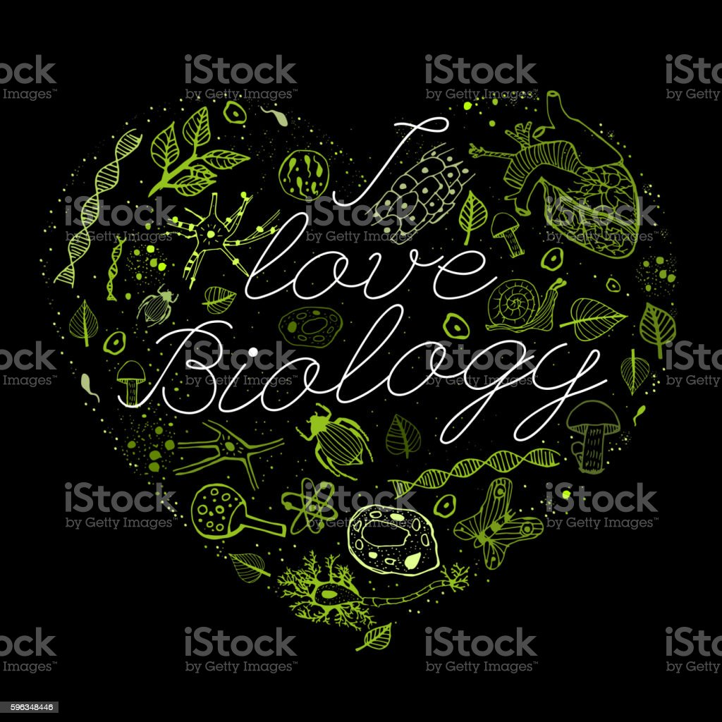 I like biology 03 A royalty-free i like biology 03 a stock vector art & more images of bacterium