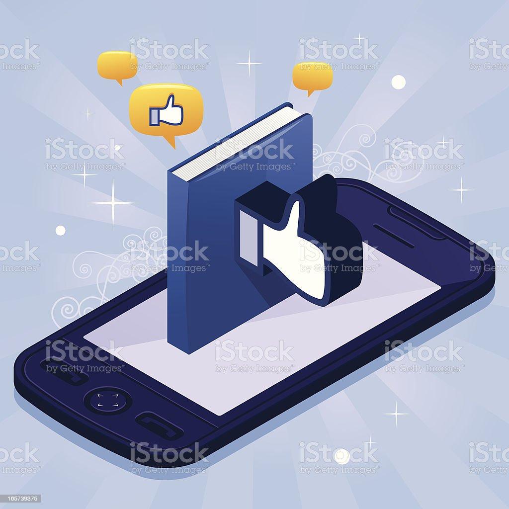 Like book phone royalty-free stock vector art