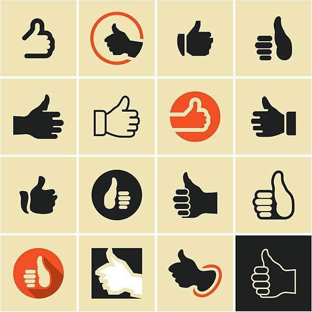 ilustrações de stock, clip art, desenhos animados e ícones de botão gosto. como ícone. - cool aproved
