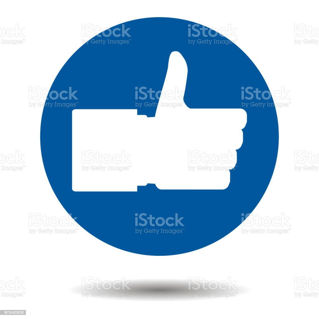 Like button thumbs up vector art illustration