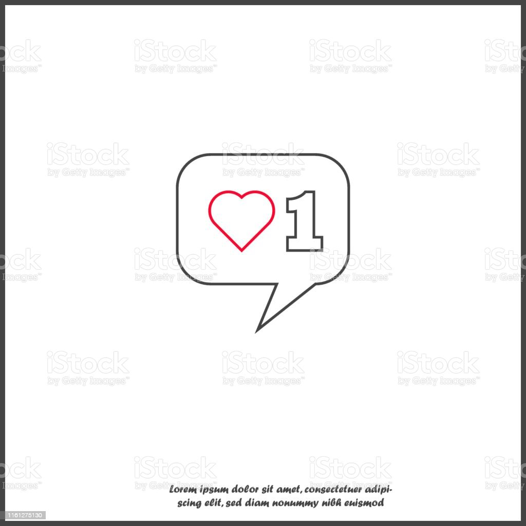 Like, comment, social activity vector icon. The hand presses on the...
