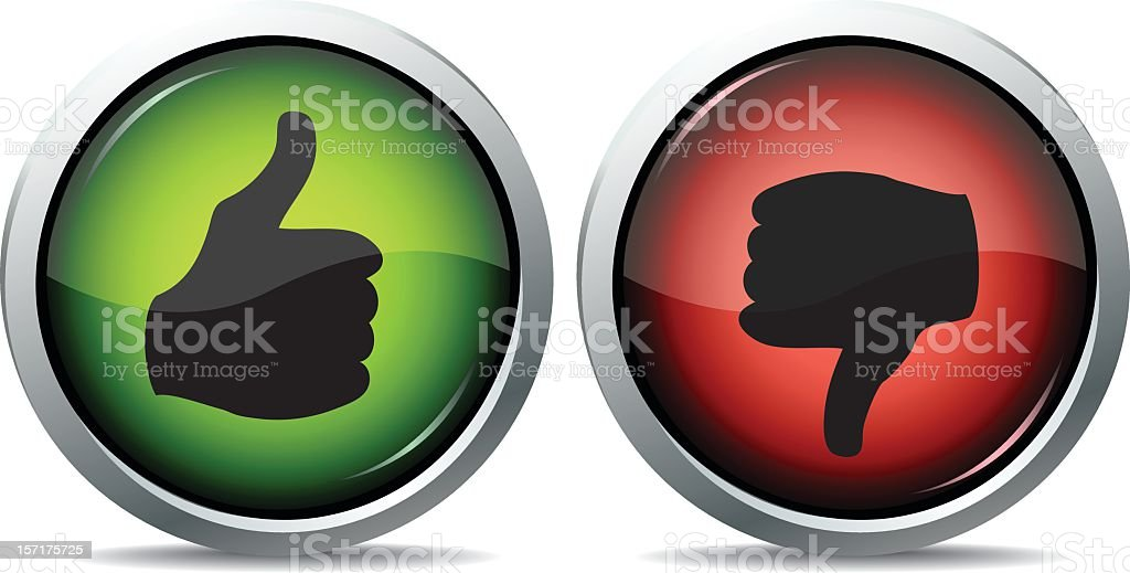 like dislike button vector art illustration