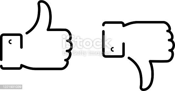 istock like dislike lineart 1221931039