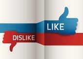 istock Like Dislike 186625153