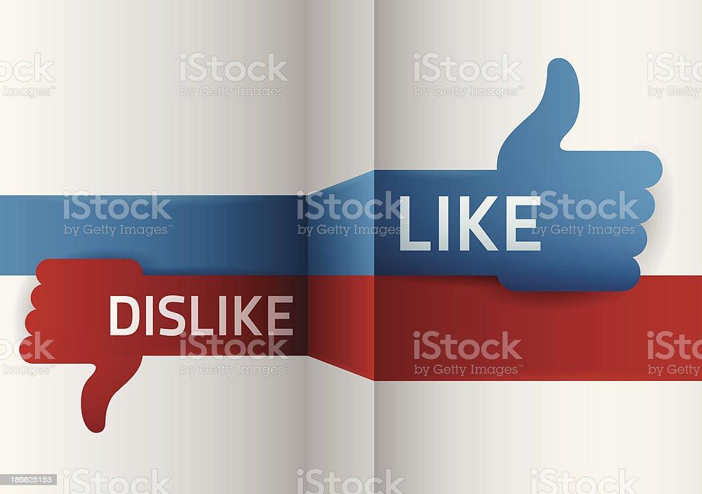Like Dislike vector art illustration