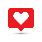 Like, heart icon. One of set web icons