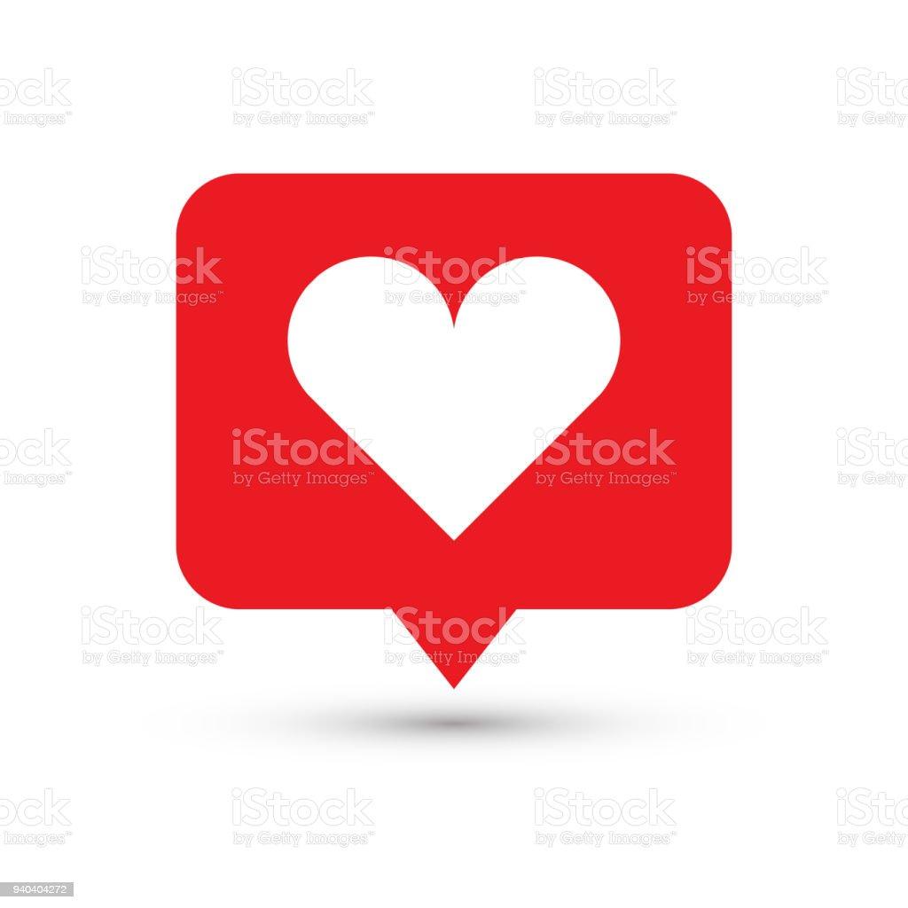 Like, heart icon. One of set web icons vector art illustration