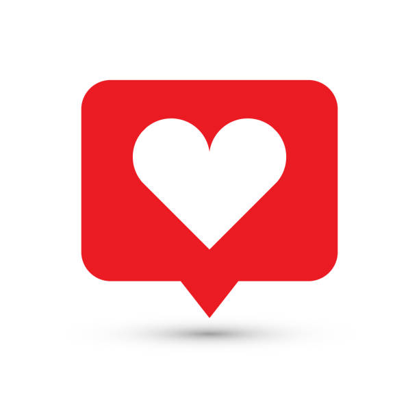 like, heart icon. one of set web icons - love emotion stock illustrations