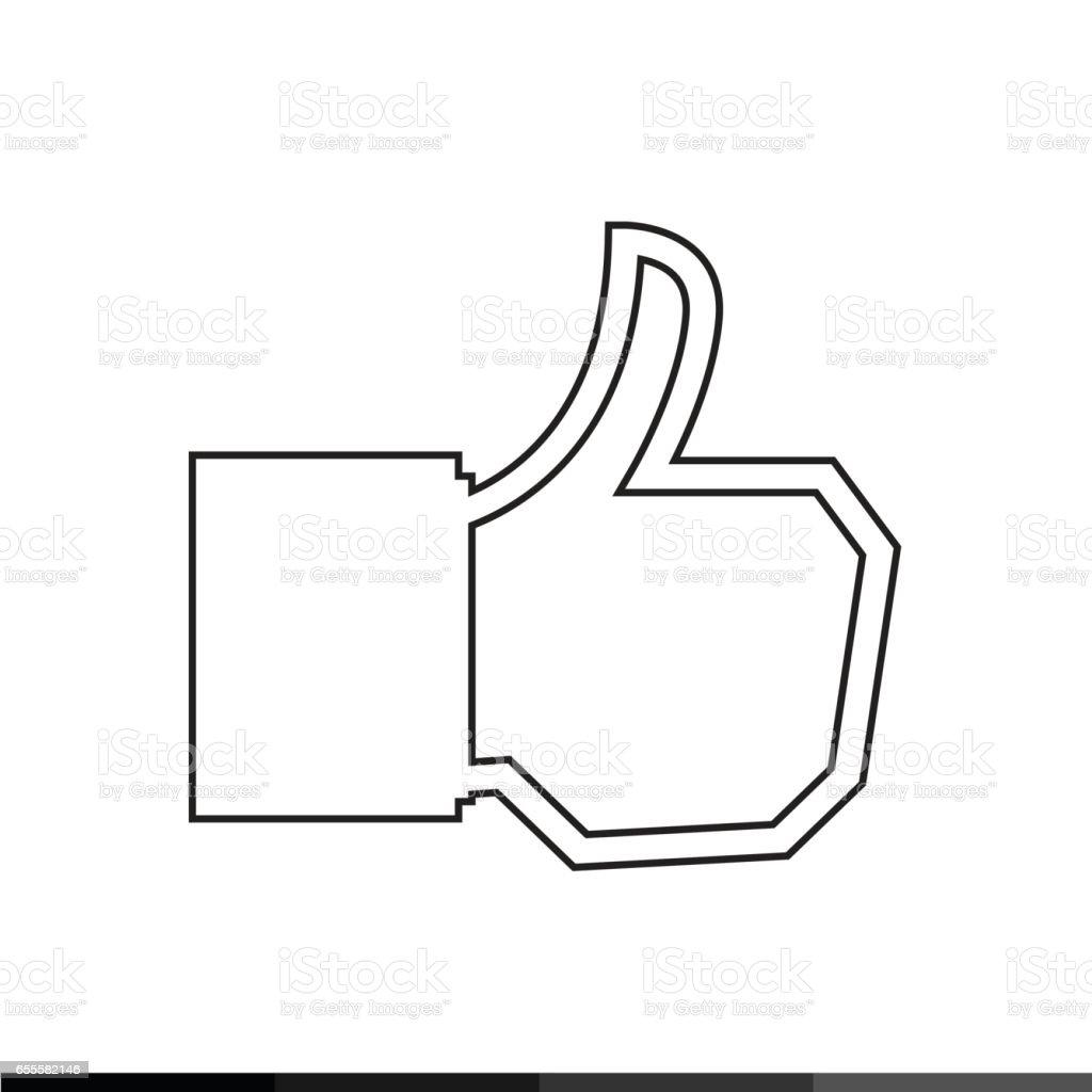 アイコン イラスト デザインのような いいねボタンのベクターアート
