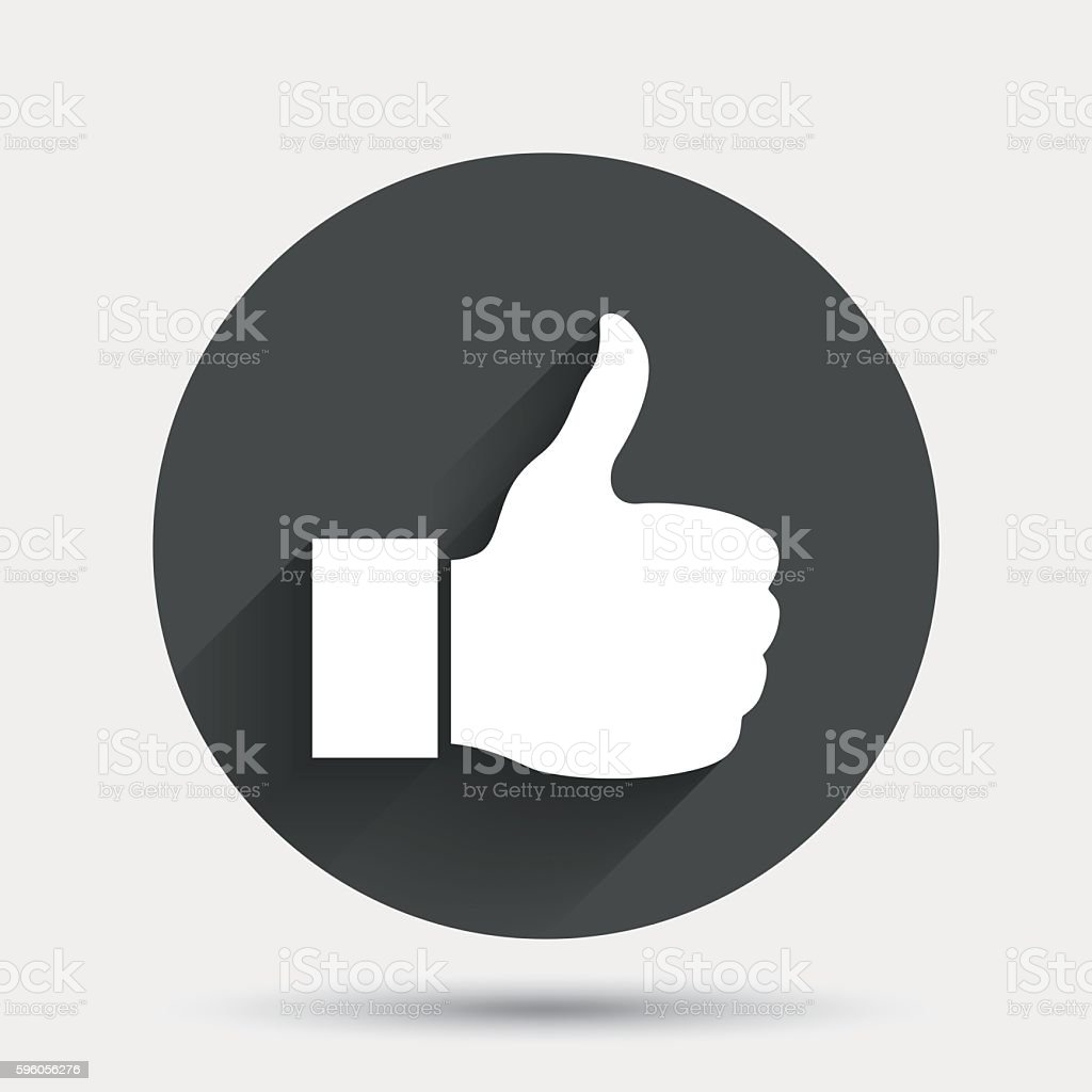 Like sign icon. Hand finger up symbol. royalty-free like sign icon hand finger up symbol stock vector art & more images of badge