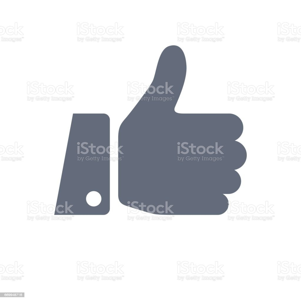 Like Thumbs Up Icon vector art illustration