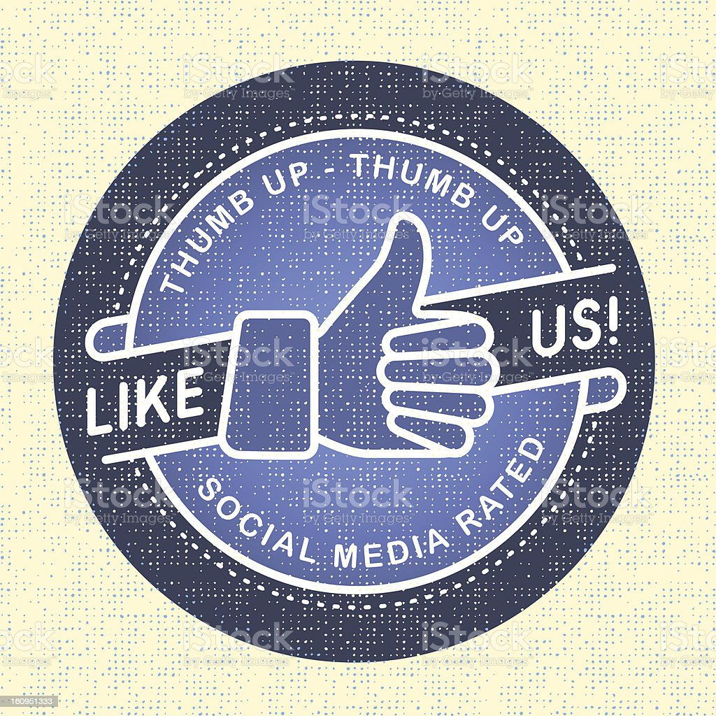 Like us Icon, social networks royalty-free stock vector art