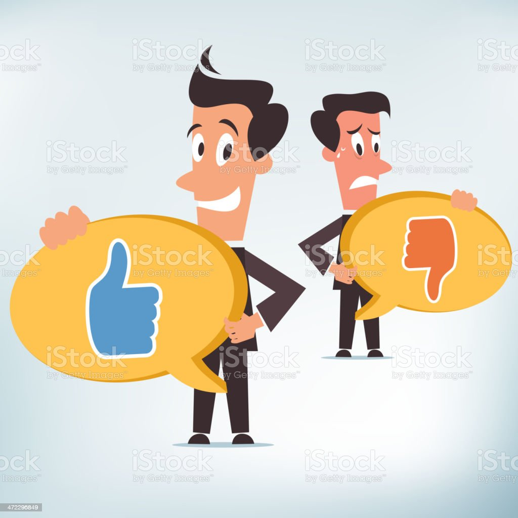 Likes and Dislikes Concept royalty-free stock vector art