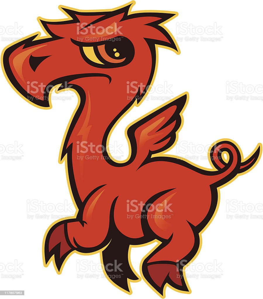 Lil Red Dragon royalty-free stock vector art