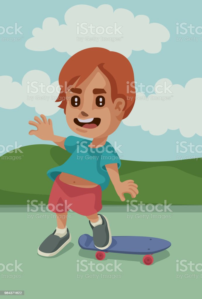 lil' Skater vector art illustration