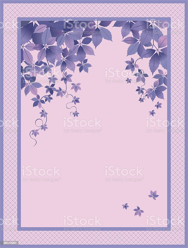 Lilac Background - Royalty-free Announcement Message stock vector
