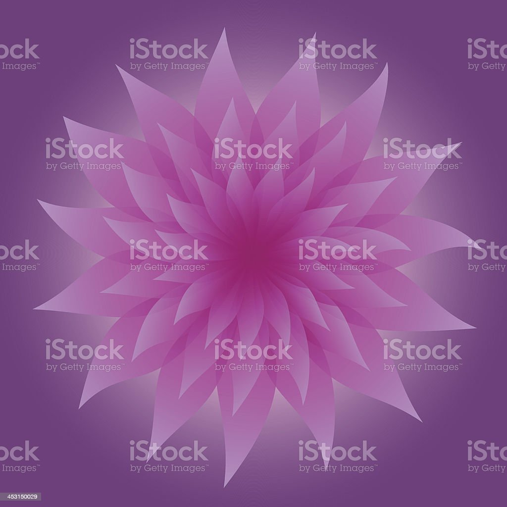 Lilac Flower on Violet Background royalty-free stock vector art