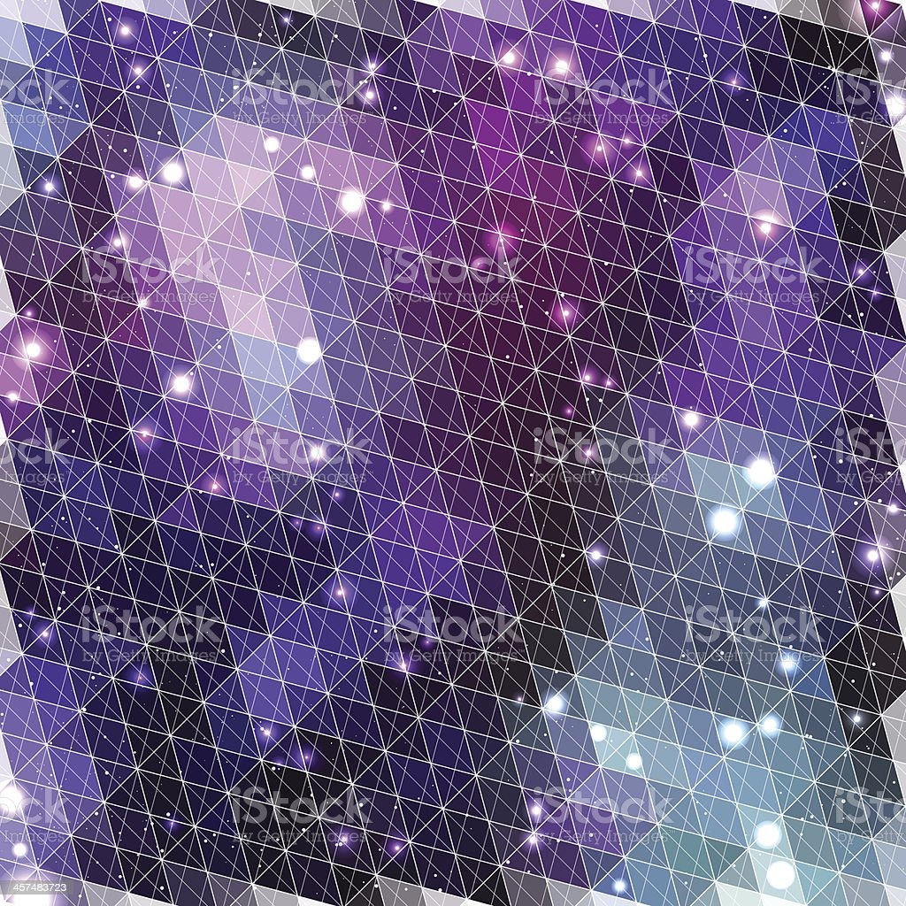 Lilac glowing pattern of triangle shapes. Vector illustration royalty-free stock vector art