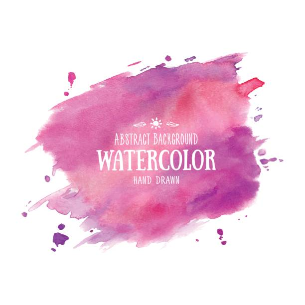 lilac-purple abstract watercolor background. hand drawn watercolor stains, splashes and drops - watercolor background stock illustrations, clip art, cartoons, & icons