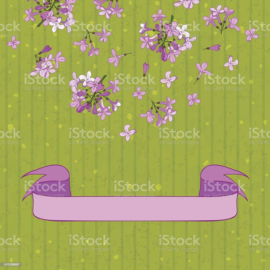 lilac&ribbon royalty-free stock vector art