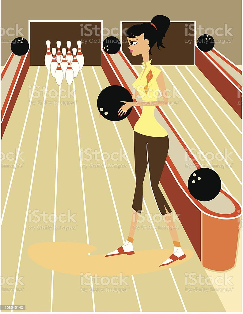 Lily at the bowling royalty-free lily at the bowling stock vector art & more images of 1960-1969