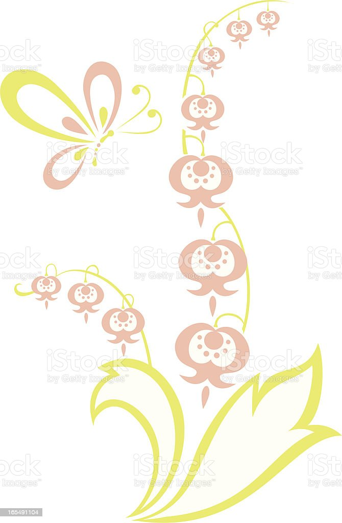 Lily & Butterfly royalty-free lily butterfly stock vector art & more images of abstract