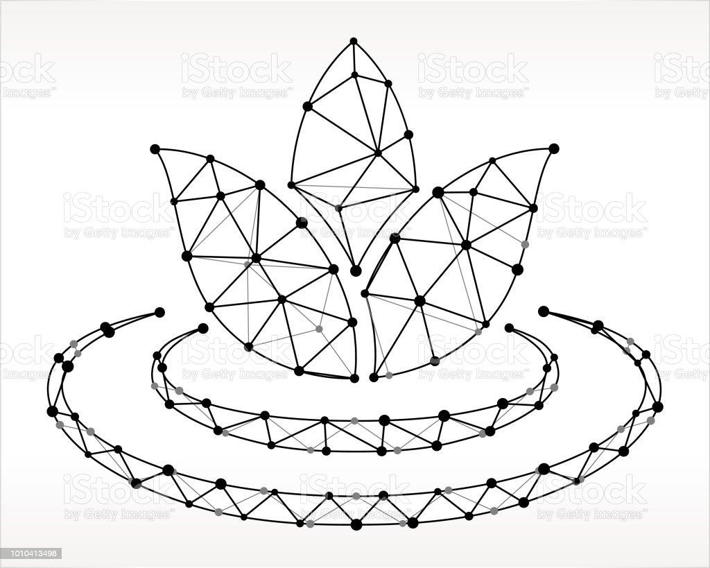 Fleur De Lys Triangle Noeud Noir Et Blanc Motif Vecteurs