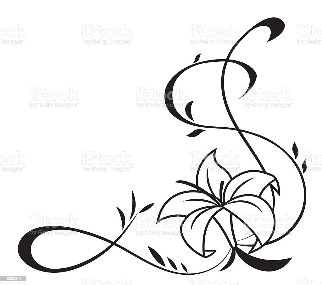 lily flowers black silhouette illustration stock vector art more images of 2015 480223464 istock. Black Bedroom Furniture Sets. Home Design Ideas