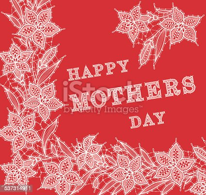 Lily lace card Happy mothers day
