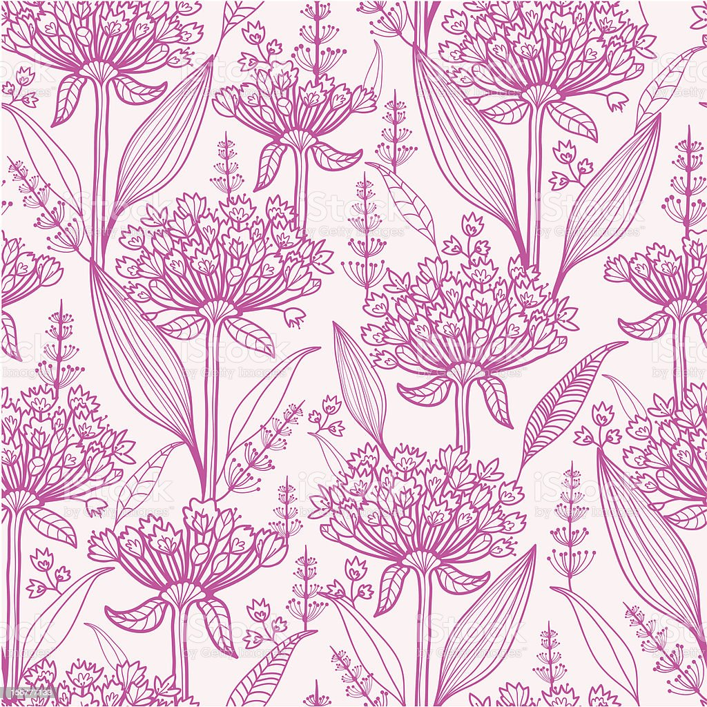 Lily of the Nile Seamless Pattern Background vector art illustration