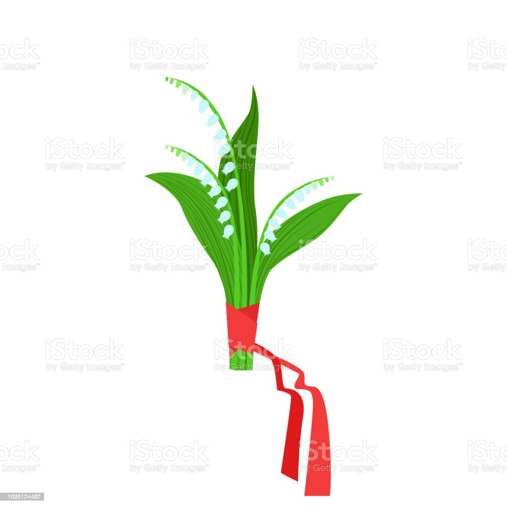 Lily of the valley flower bouquet tied with red ribbon flower shop lily of the valley flower bouquet tied with red ribbon flower shop decorative plants assortment izmirmasajfo