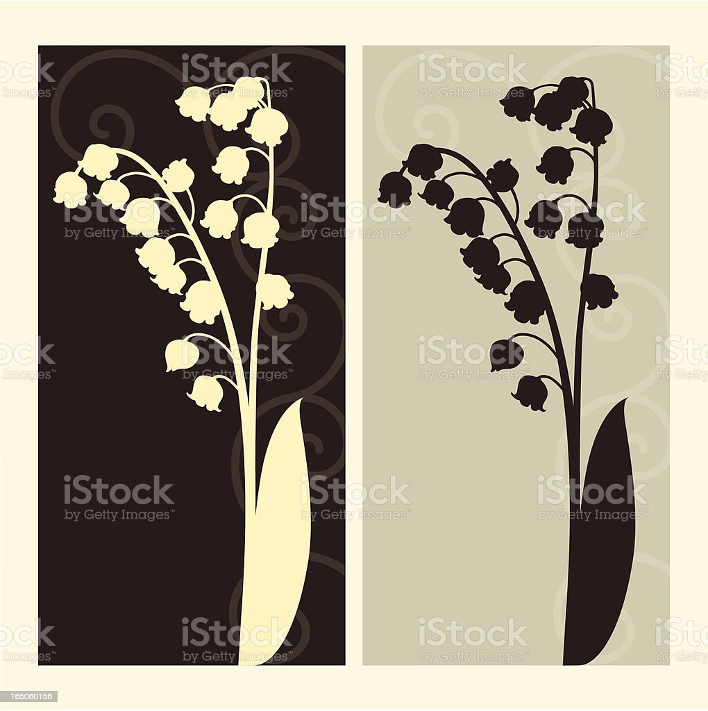 lily of the valley silhouette royalty-free stock vector art