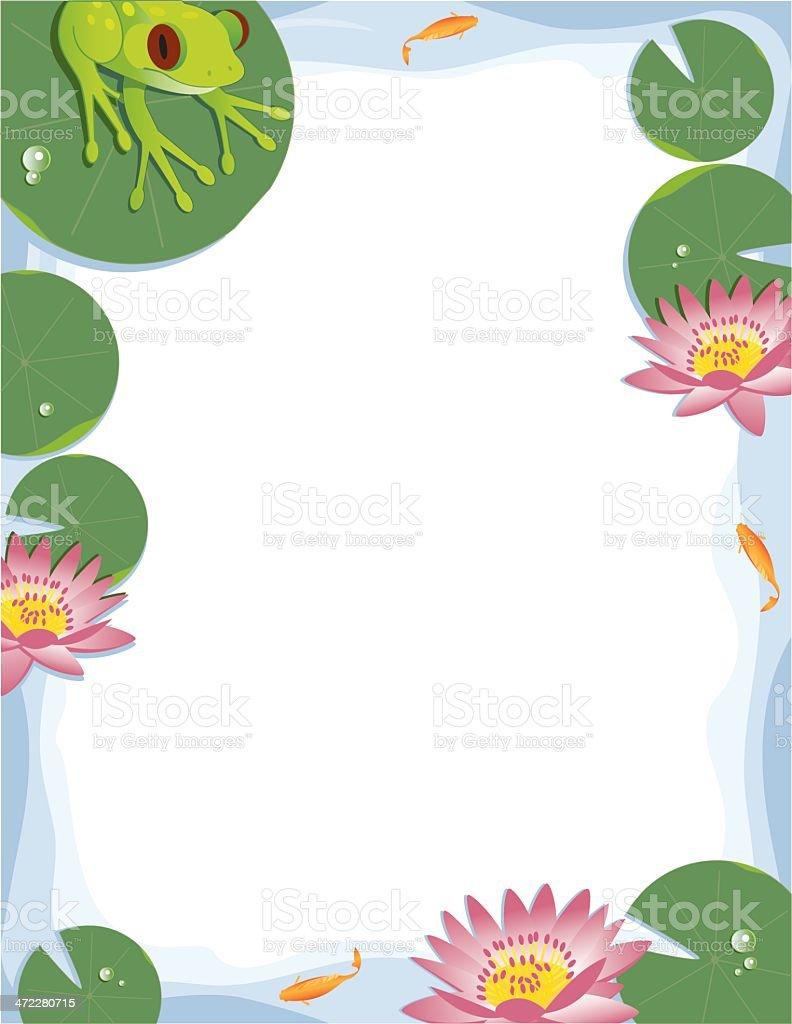 Lily Pad Border royalty-free lily pad border stock vector art & more images of amphibian