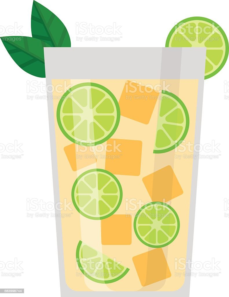 Lime drink vector illustration. vector art illustration