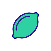 Lime icon vector. Thin line sign. Isolated contour symbol illustration