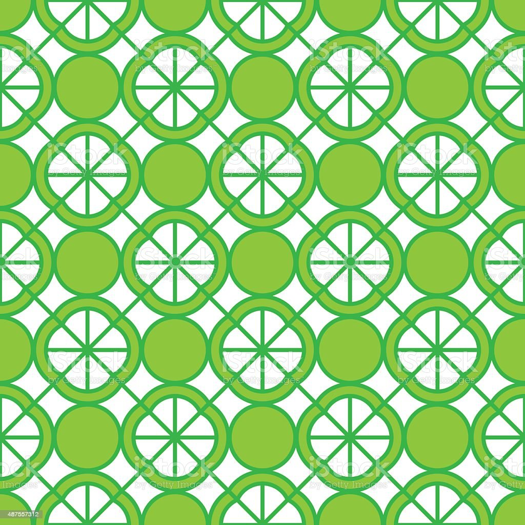 Lime Pattern vector art illustration