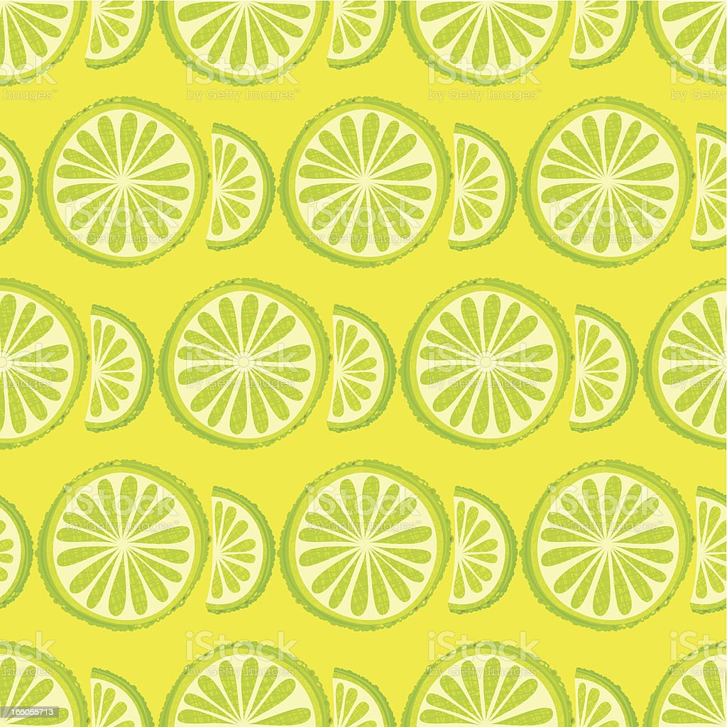 Lime Seamless Pattern vector art illustration