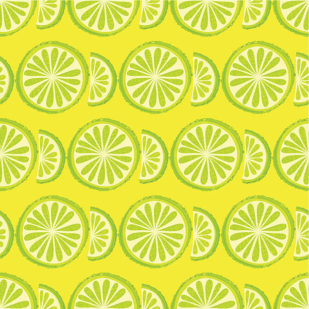 Lime Seamless Pattern Lime seamless pattern. Vector. EPS 8.  lime stock illustrations