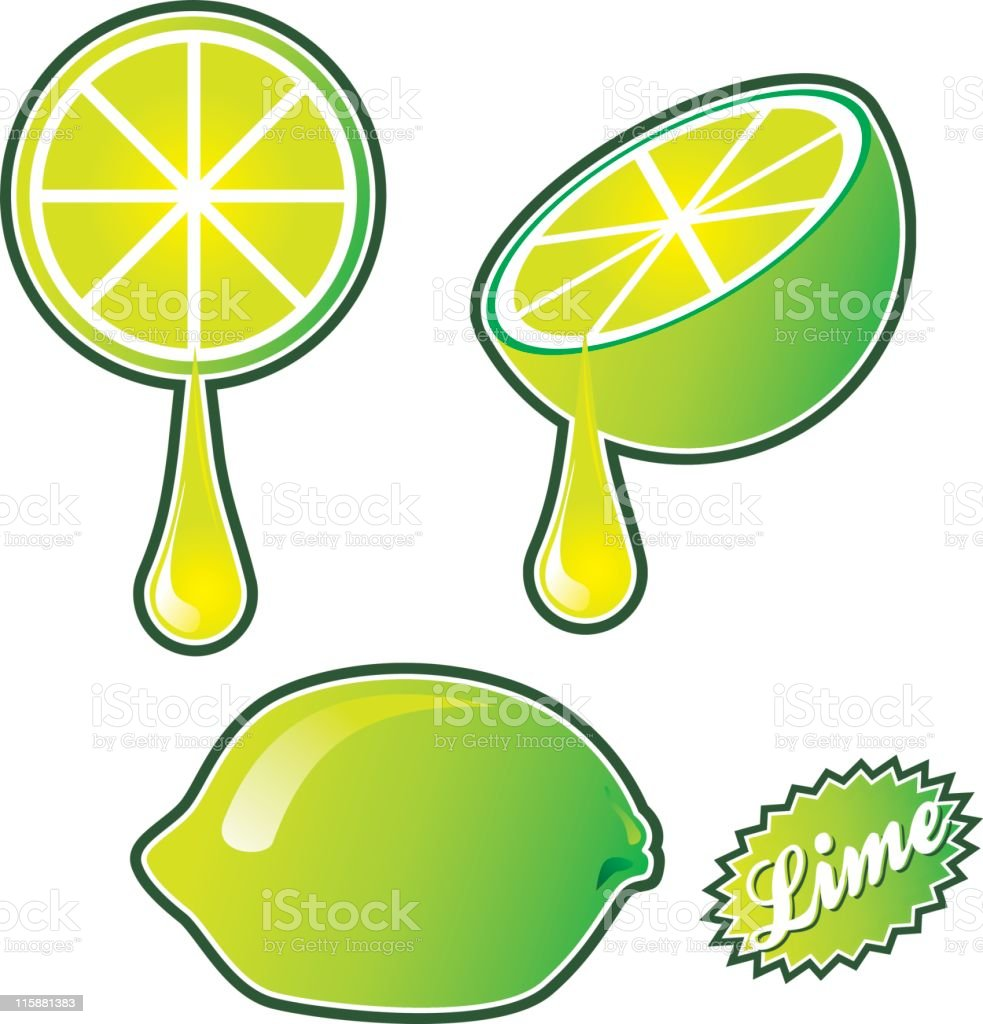 Limes royalty-free stock vector art