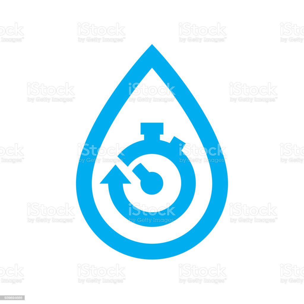 Limit water use icon blue stopwatch in water drop symbol stock limit water use icon blue stopwatch in water drop symbol royalty free limit water biocorpaavc Image collections