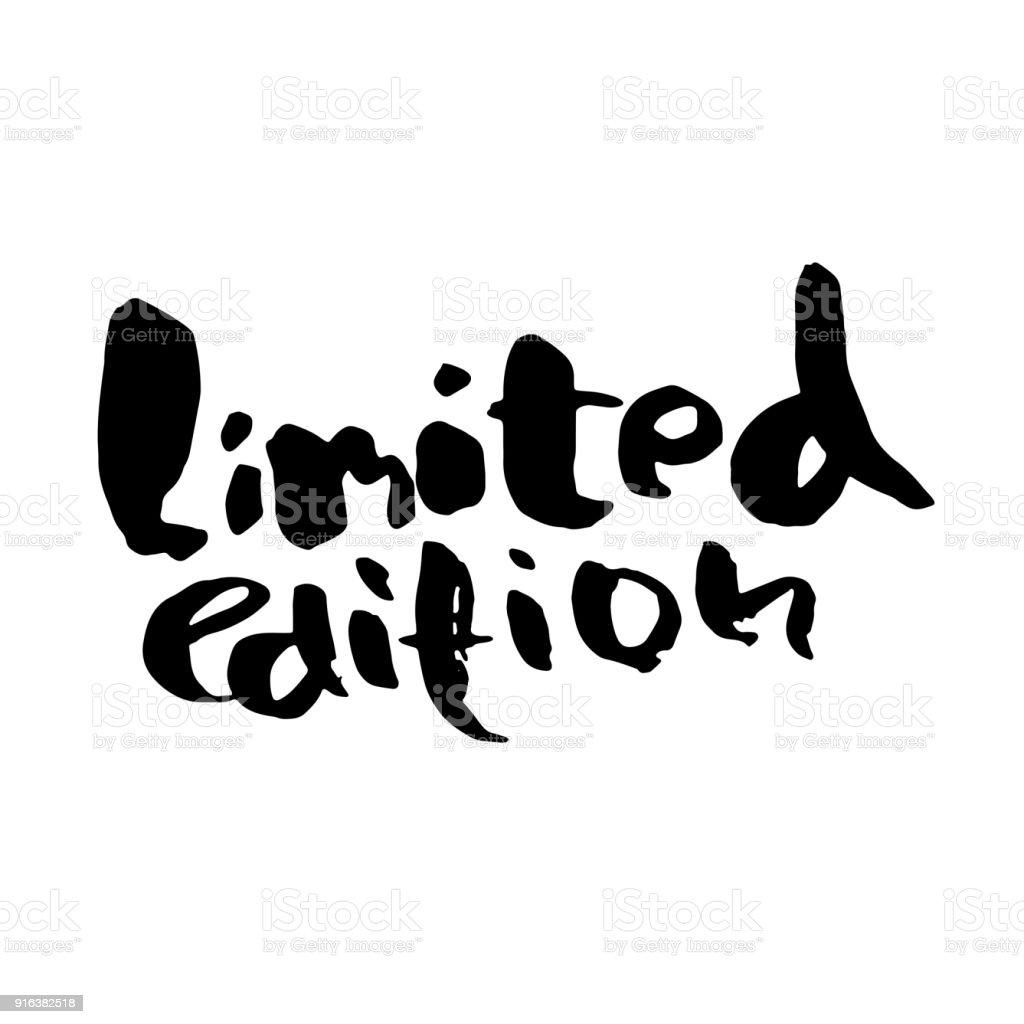 Ink Handwritten Lettering Modern Dry Brush Calligraphy Typography Poster Design