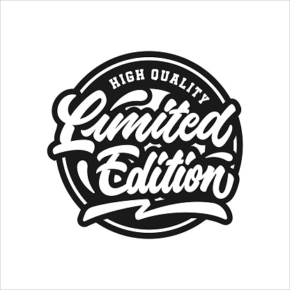 Limited edition lettering stamp premium logo