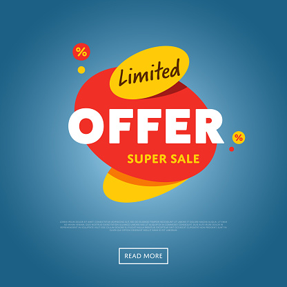 Limited offer isolated discount sticker